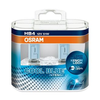 Лампа галогенная Osram H4 4200K Cool Blue Intense, 12V 60W